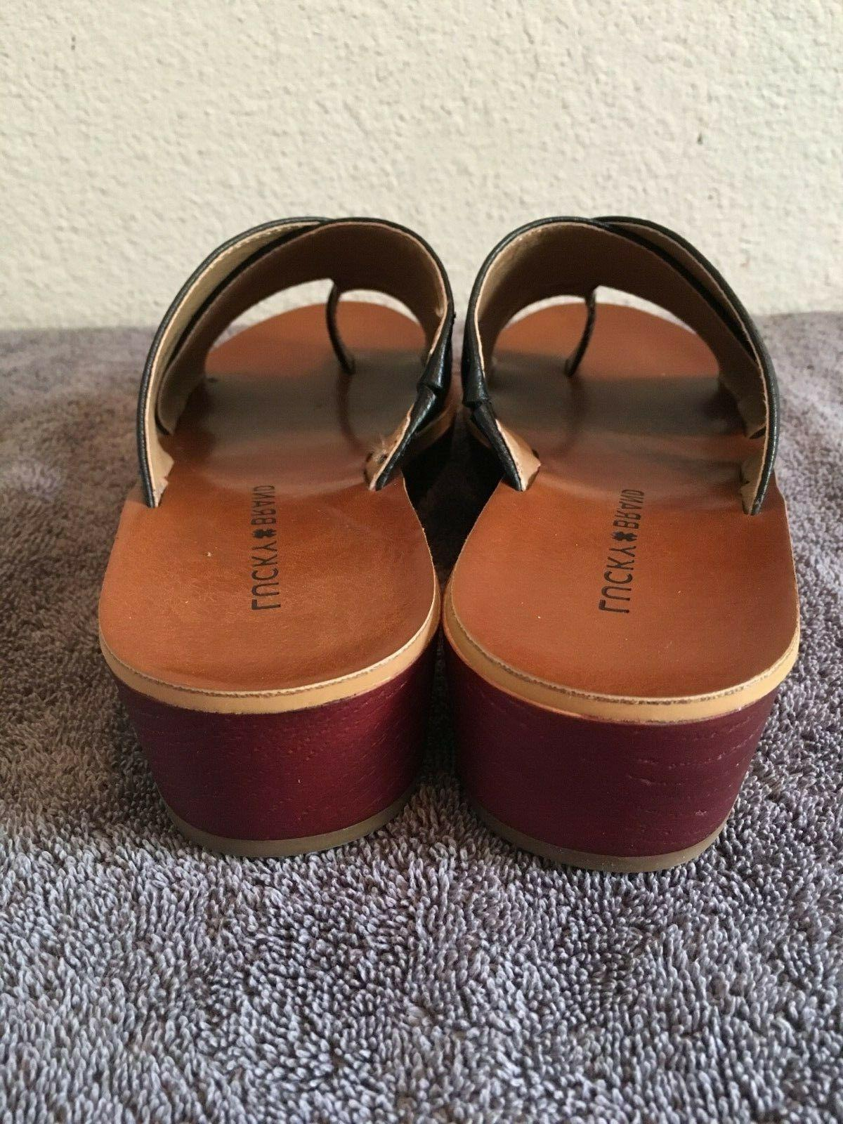 NWOT Women's Lucky Haydyn Wedge Straps
