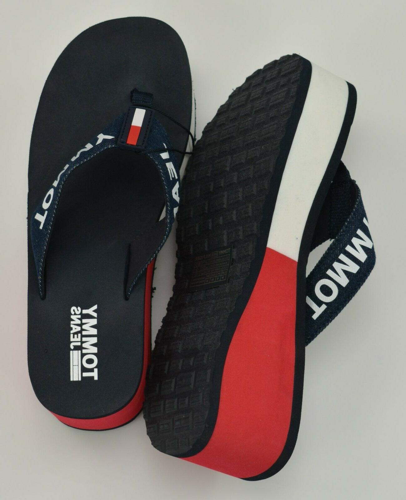 NWT Women's Tommy Jeans Flip Flops Sandals Wedge