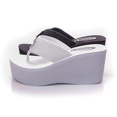 Soda OXLEY-S New Womens Platform Sandals Wedge Heels Thong F