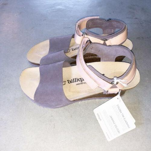 Papillio by Wedge Leather Strap Sandals 7 EU 38