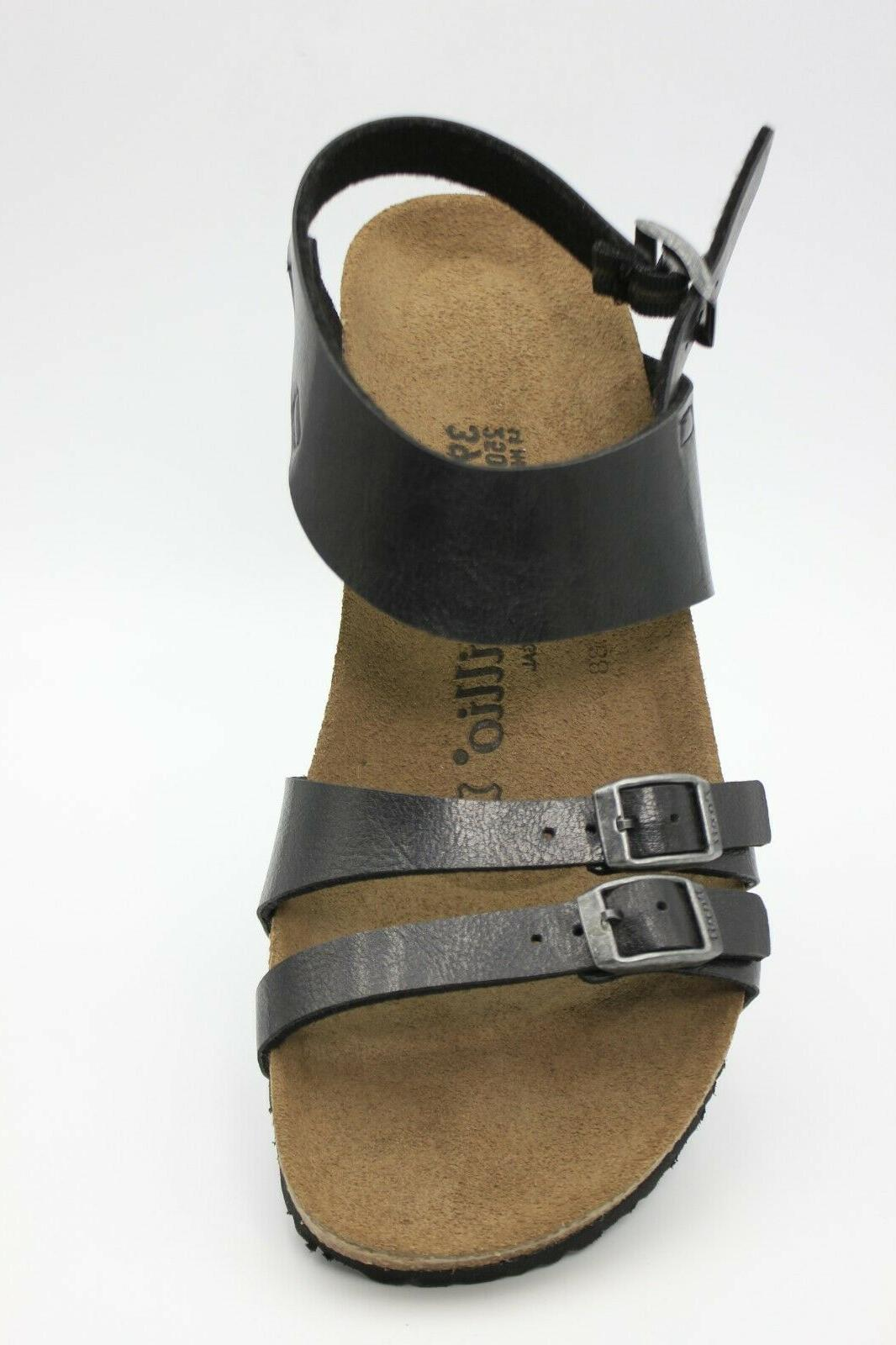 PAPILLIO By Birkenstock leather Wedge Size 8 Womens