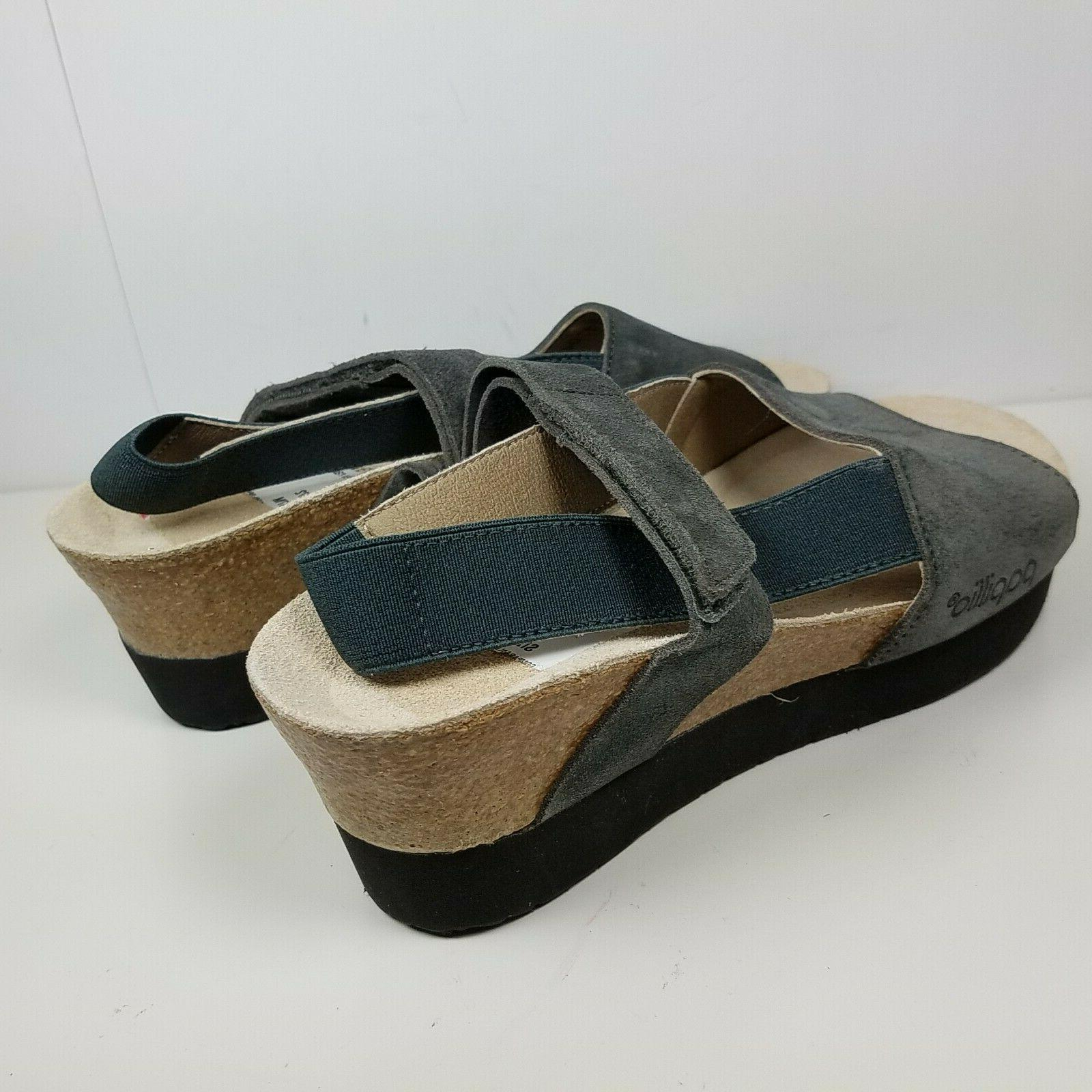 Papillio by Sandals gray Wedge 6 new