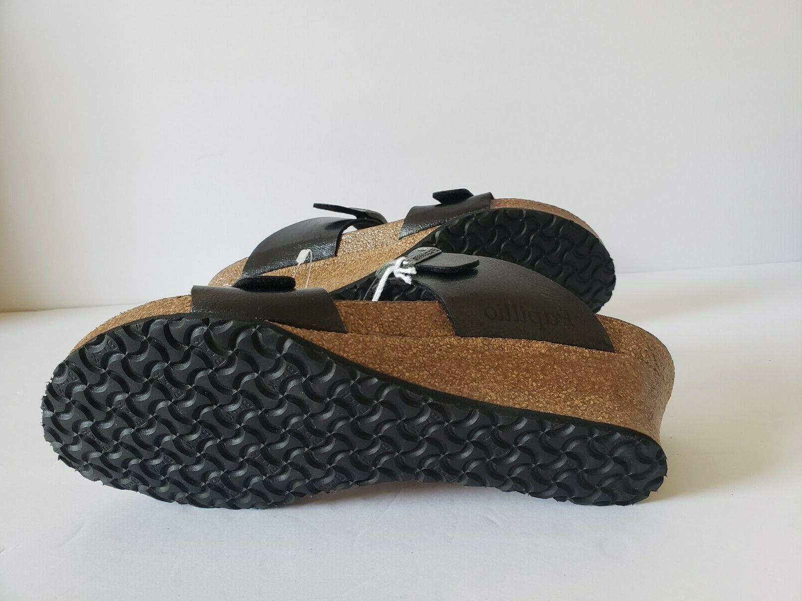 Licorice Wedge Sandals Size EUR 36 US 5 - 5.5