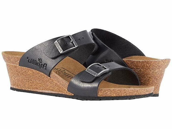 papillo womens dorothy licorice wedge sandals size