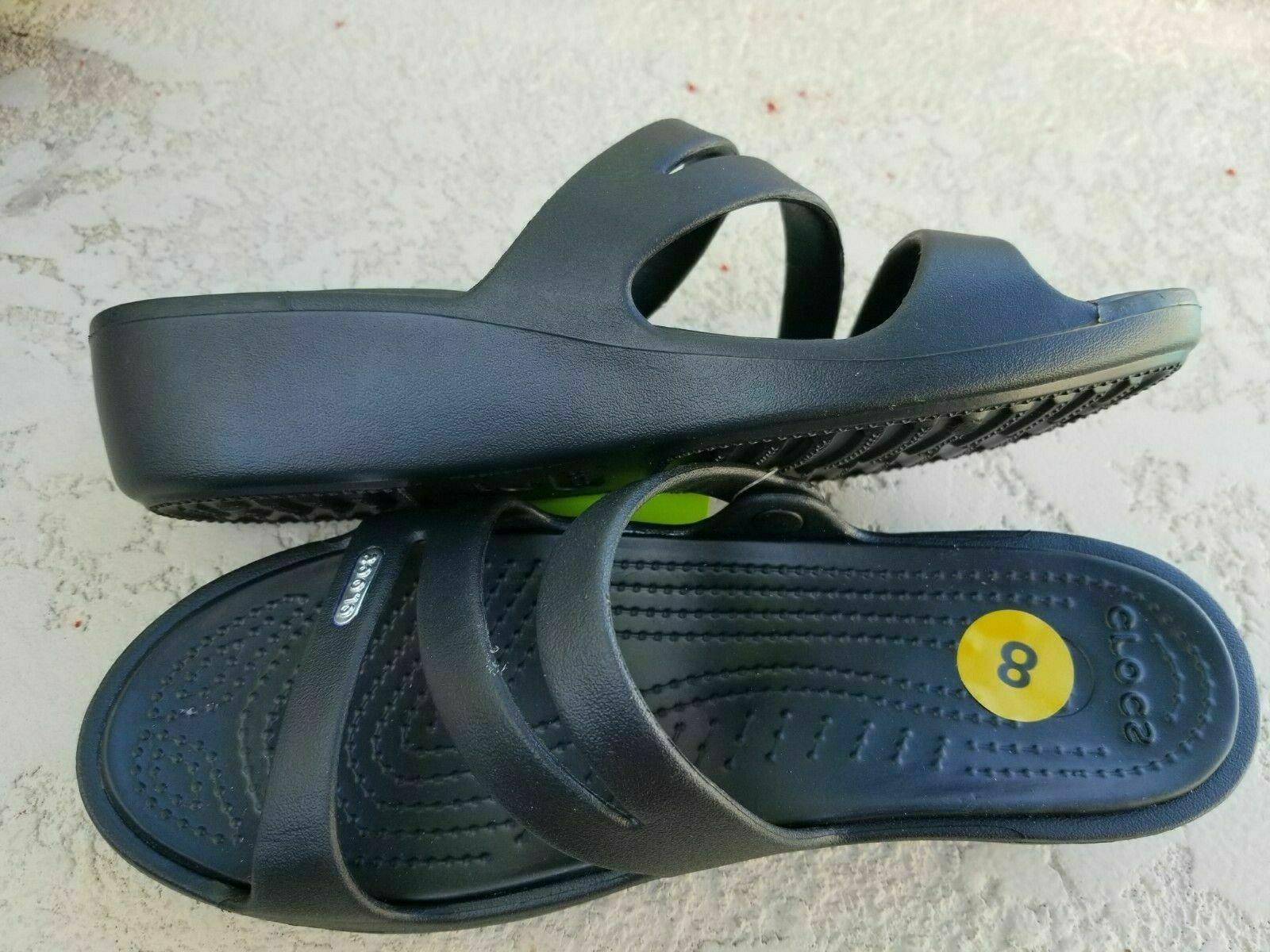 CROCS Slides Sandals Black Relaxed Fit SELECT