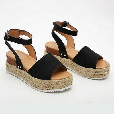 Women Fashion Casual Wedges Shoes Toe