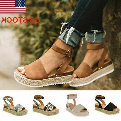 women fashion platform sandals casual ankle strap