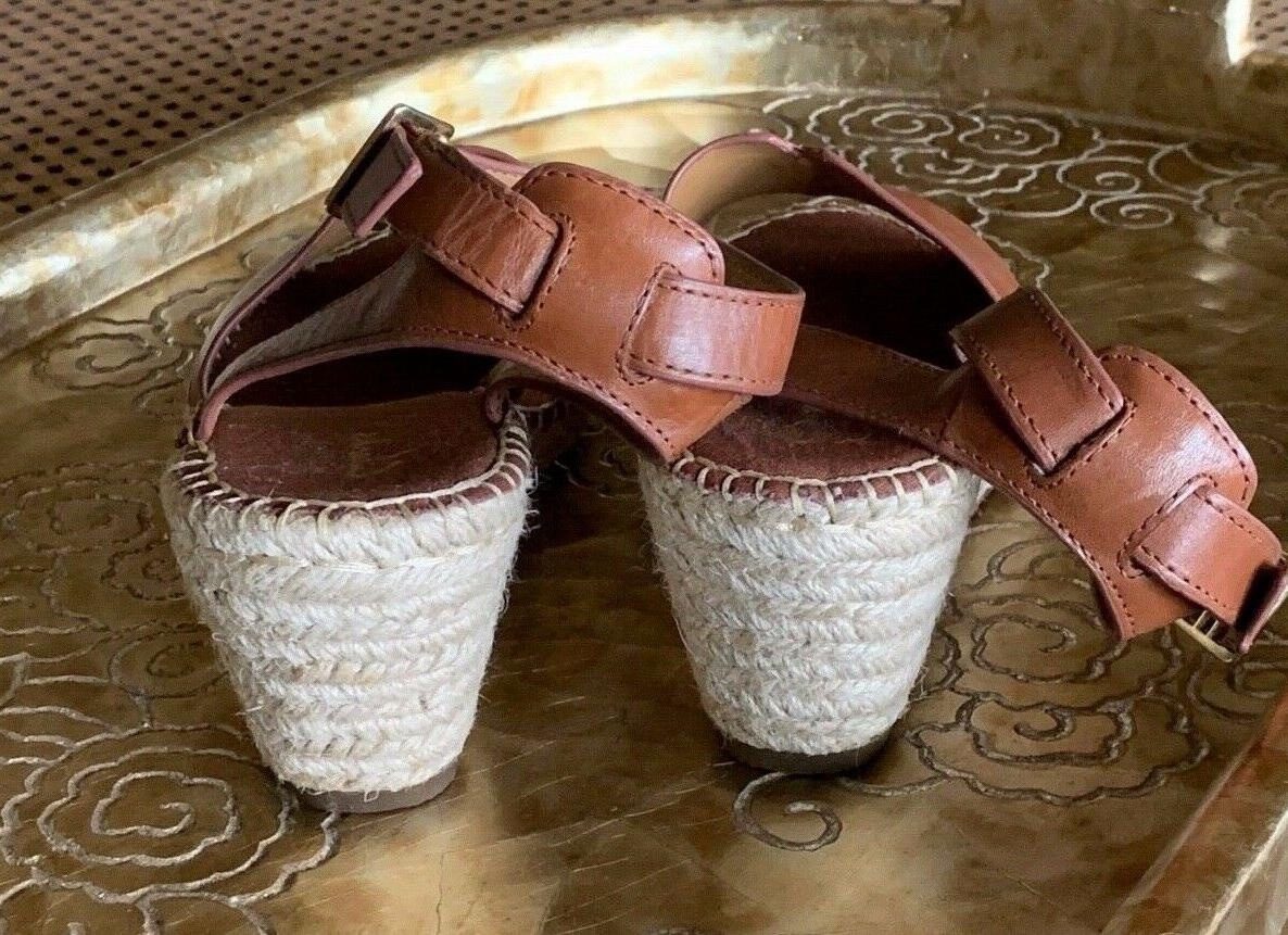 CLARKS ESPADRILLE SANDALS NUTMEG NEW