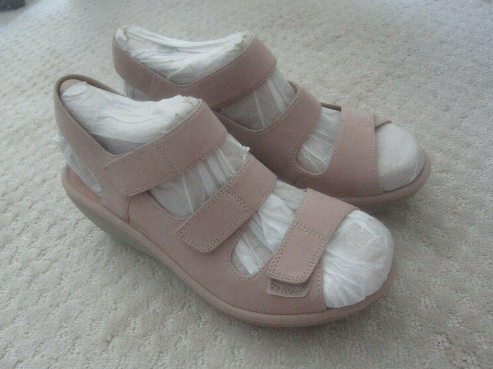 Clarks Reedly Juno Leather Sandals Tan New NWOB