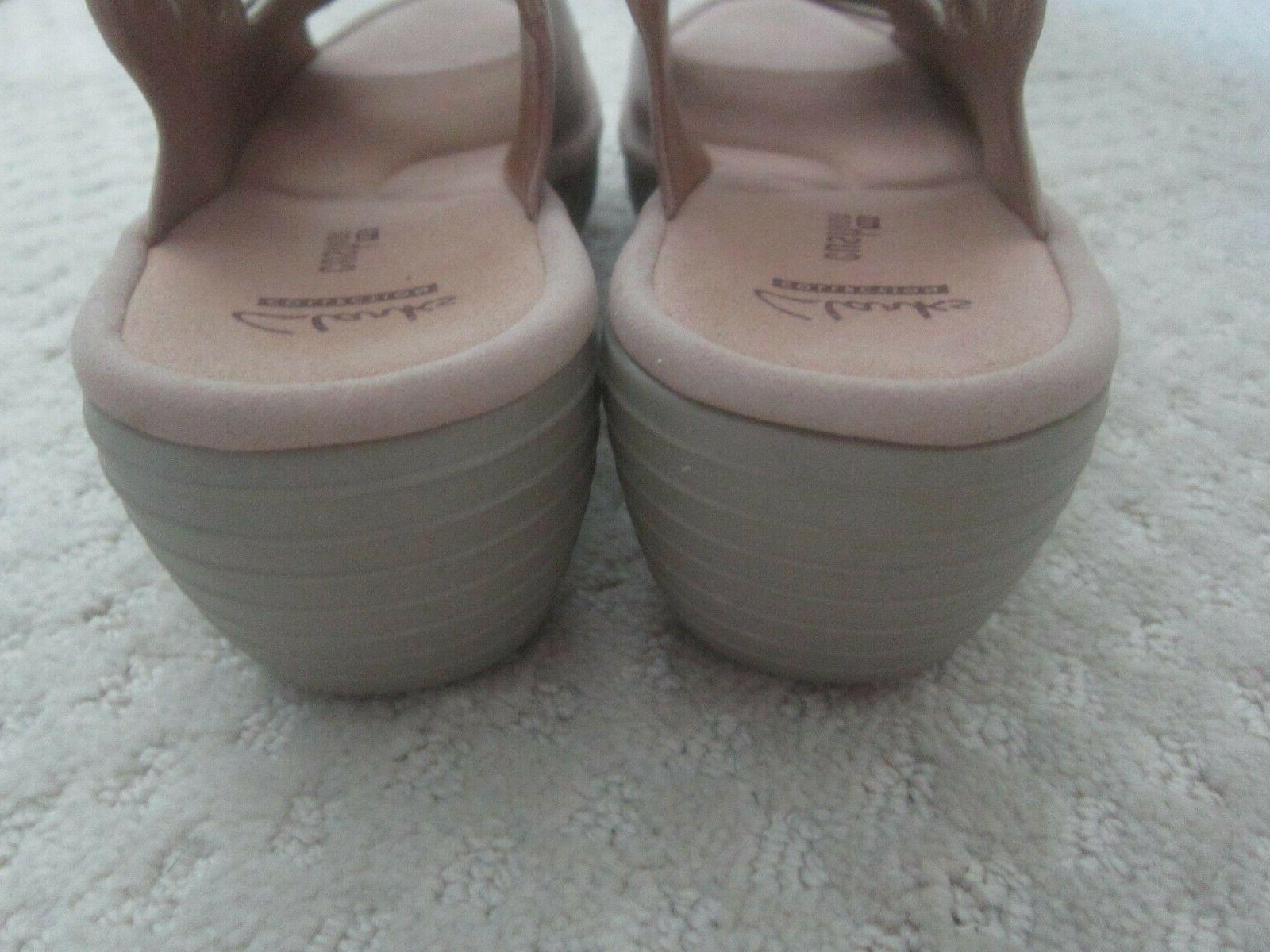 Clarks Reedly Juno Leather Wedge Sandals Tan Size 8 NWOB
