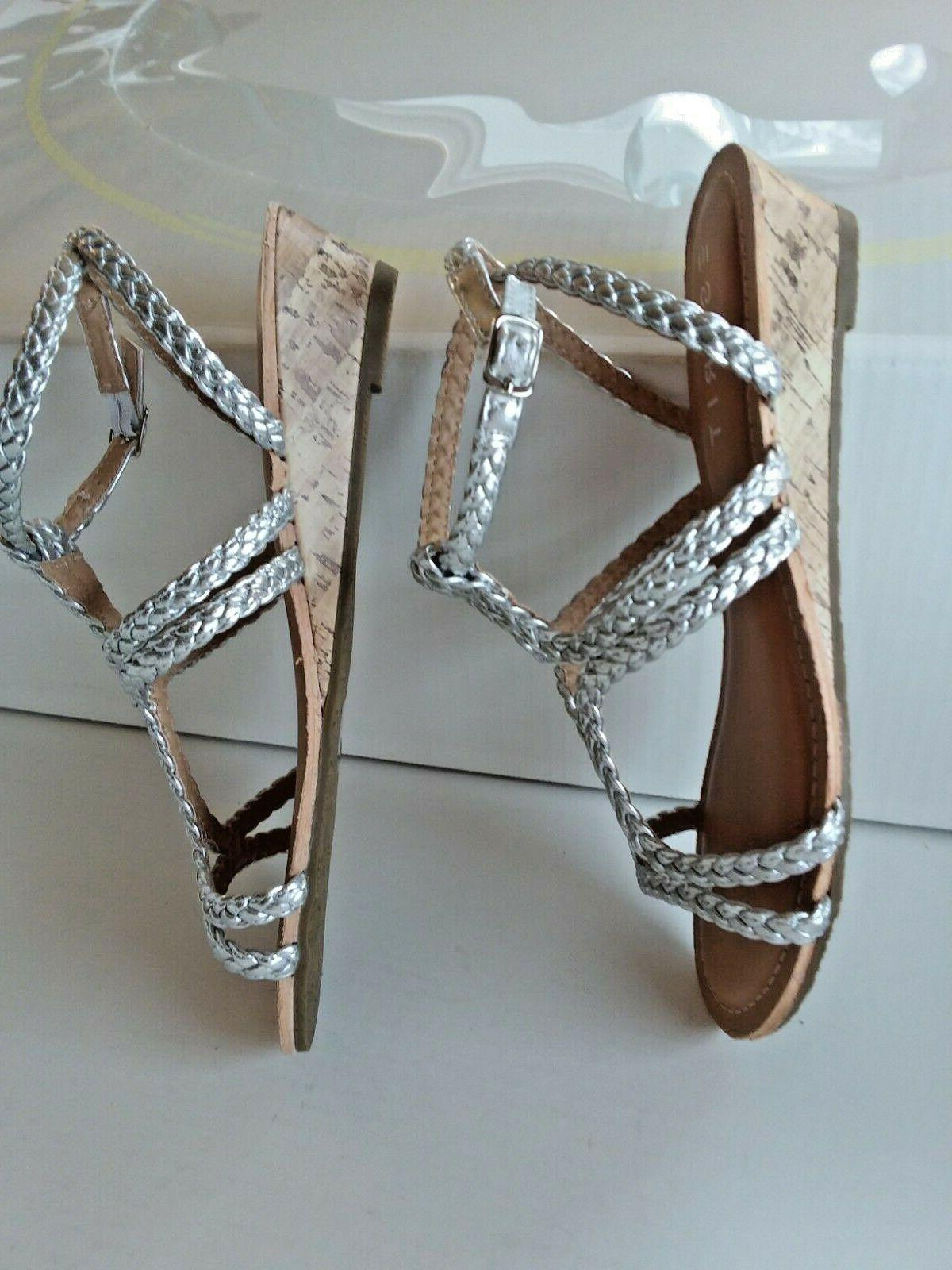silver crystie sandals w ankle strap 1