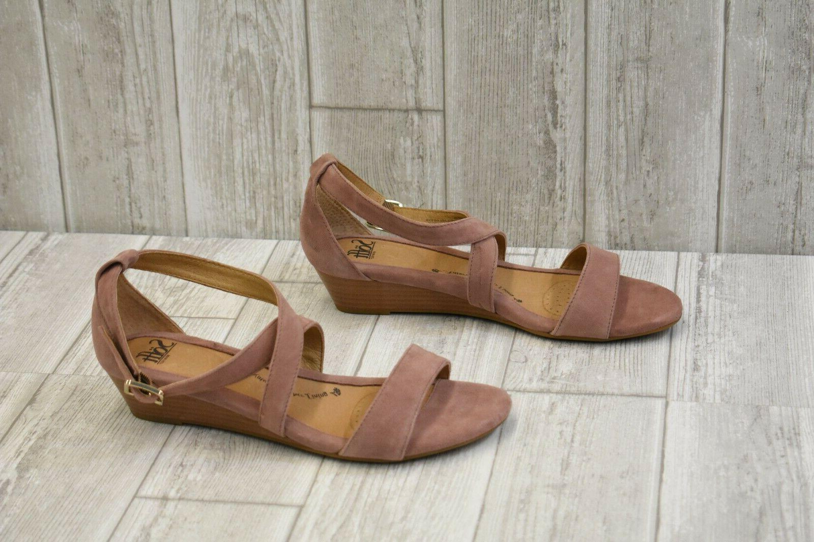 Sofft Innis Wedge Sandals, Women's Size 10W, Mulberry NEW
