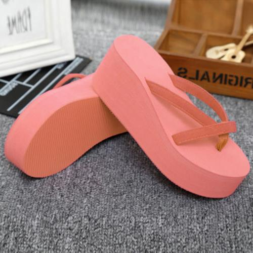 Summer Women Platform Flip Slippers Shoes EL