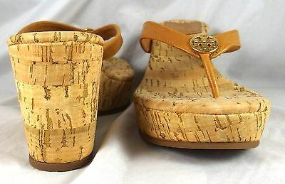 Tory Burch Suzy Tumbled Leather Cork Wedge Sandals