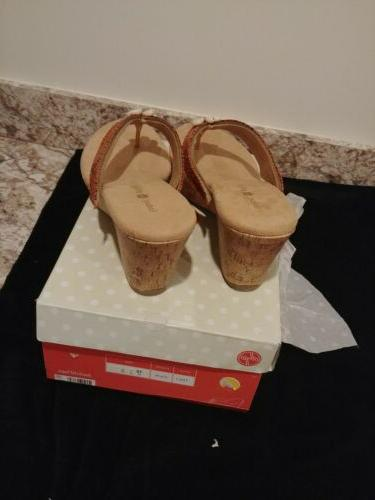 Lindsay Phillips 10 Cork Sandals Tan