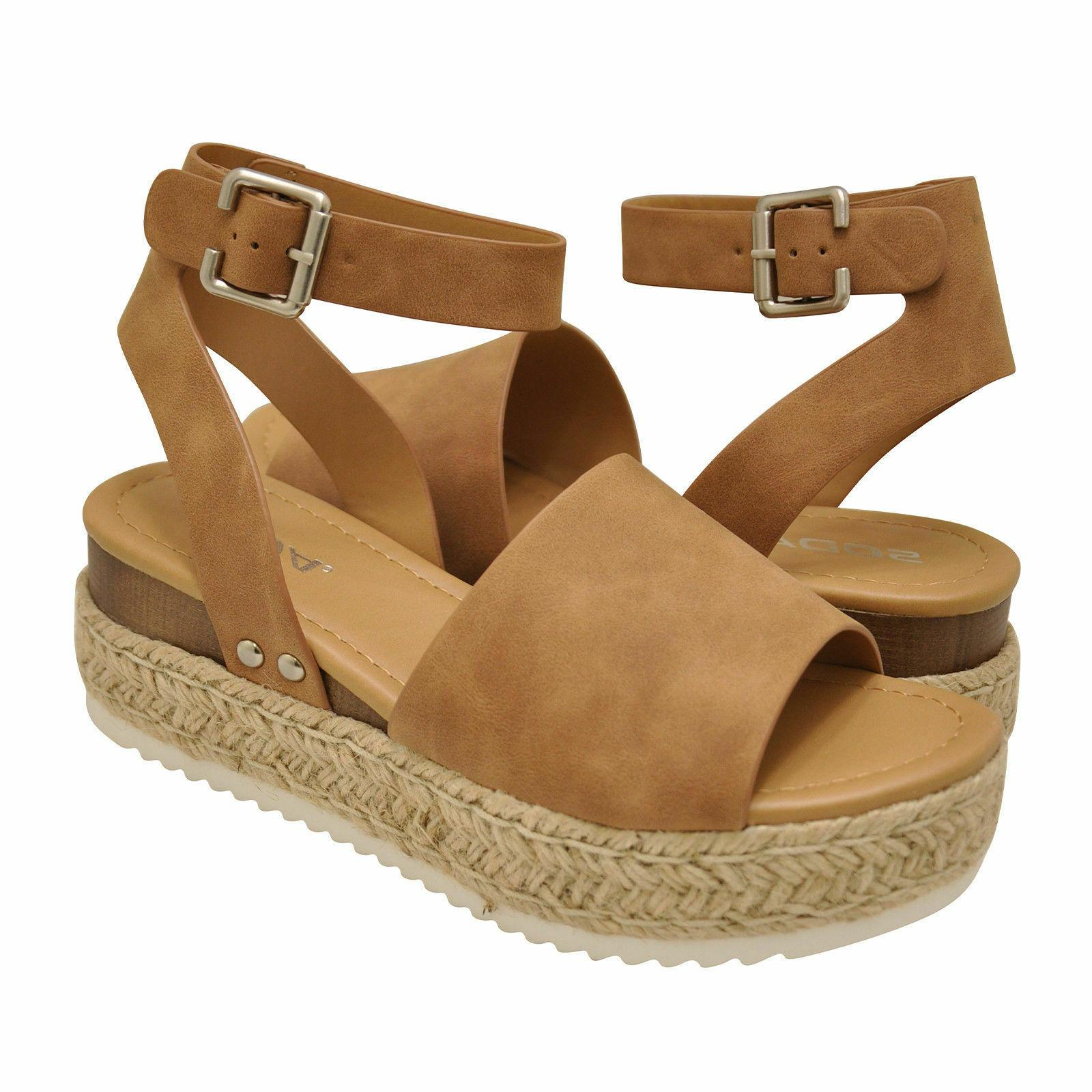 topic black ankle strap platform wedge espadrille