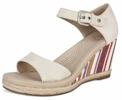 ugg womens wedge sandals size 9 stripes
