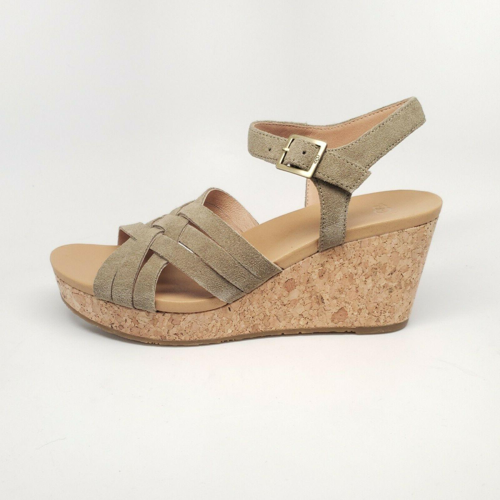 uma wedge womens suede cork wedge sandal