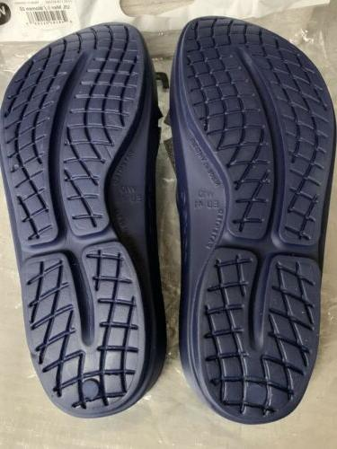 OOFOS Navy Sandals Flip Recovery For W10