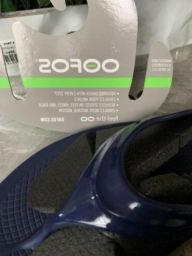 OOFOS Navy Flip Recovery W10 8