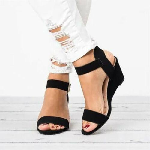 US Wedge Low Buckle Shoes 5-8.5