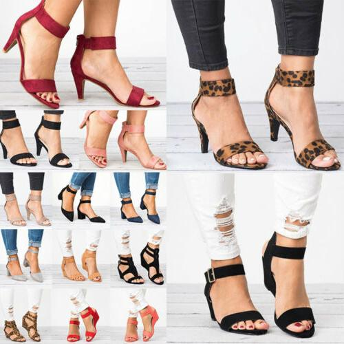 Women's Wedge Sandals Heels Buckle Gladaitor Shoes Size