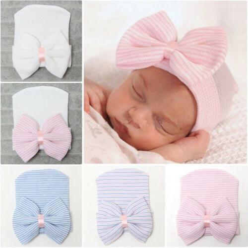 USA Newborn Baby Infant Girl Toddler Comfy Bowknot Hospital