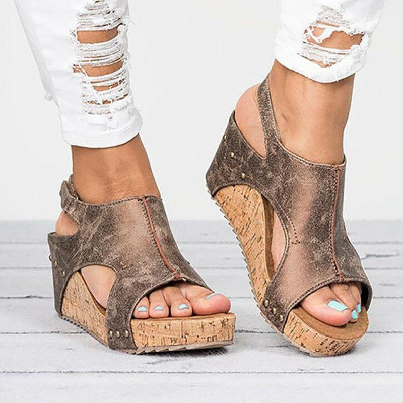 Women Sandals Platform Slingback Pumps Ladies USA