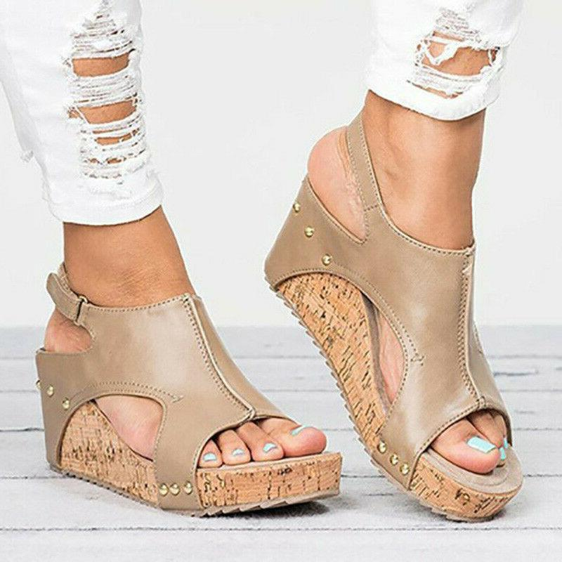 US Sandals Platform Ladies Summer Buckle