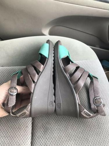 Keen Cascade leather wedge buckle sandals 38.5