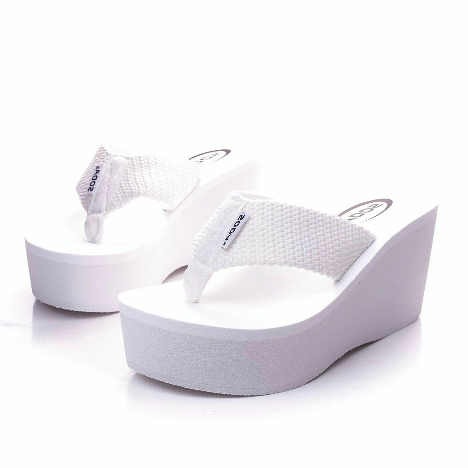 WEDGE WEBBING PLATFORM SANDALS