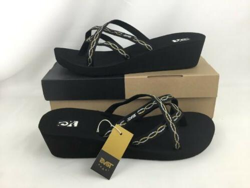Women's Teva 'Mandalyn' Wedge Sandal, Size 8 M - Black