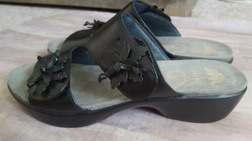 womans wedge sandals size 40 9 5