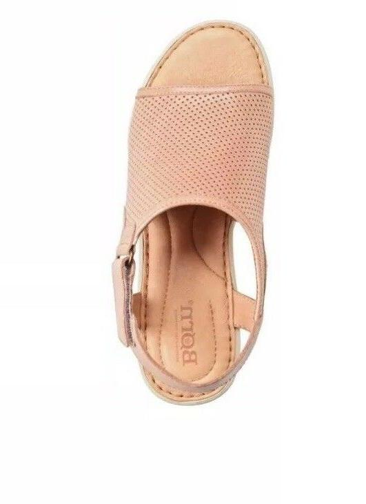 Women Born Low Wedge Sandals Leather Blush