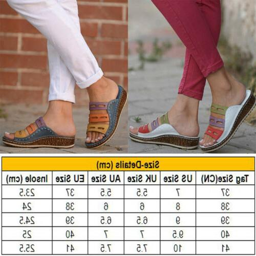 Women Chic Summer Casual Heel Slip On Shoes