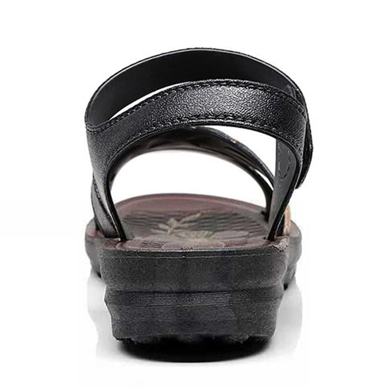 Women Mujer <font><b>Leather</b></font> Shoes Summer Ladies Slippers Sandalen Dames
