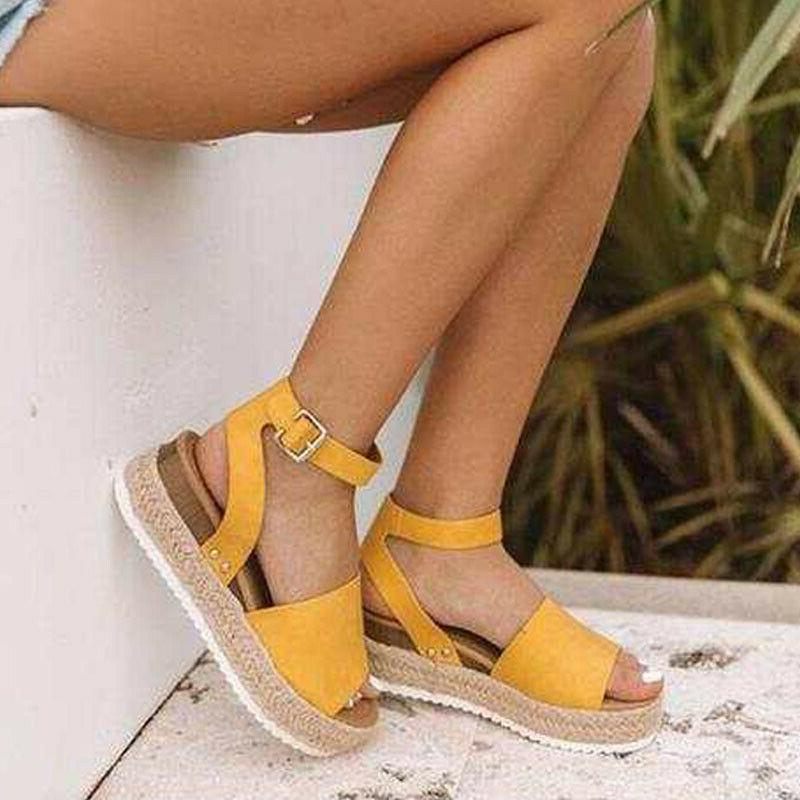 Women Sandals Open Toe Wedge Heels