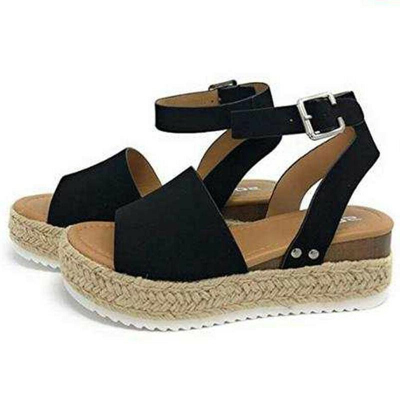 Women Sandals Platform Open Toe Heels Strap Shoes