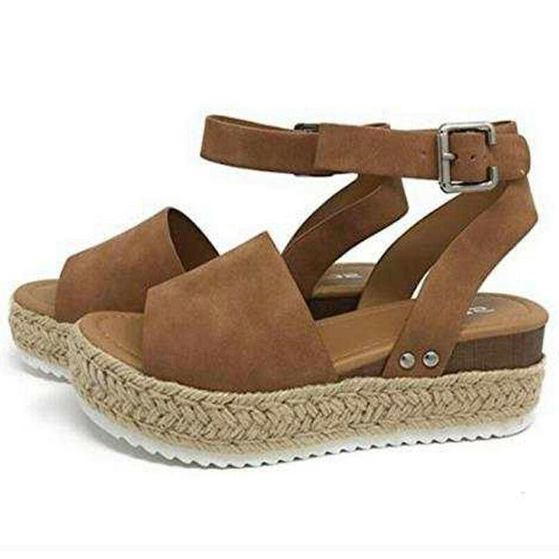 Women Summer Sandals Open Toe Wedge Heels