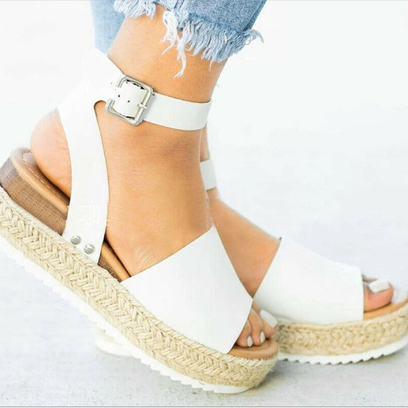 Women Summer Sandals Platform Open Heels Shoes