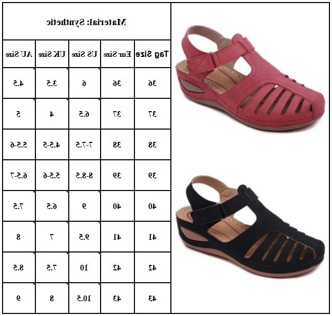 Women Sandals Closed Slippers Flat Size