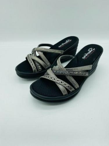 Slide Sandals Pewter 7