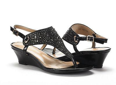 DREAM New Low Wedge Ankle Strap Sandals