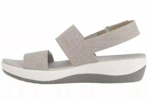CLARKS Women's Wedge Sand 8 Cloudsteppers