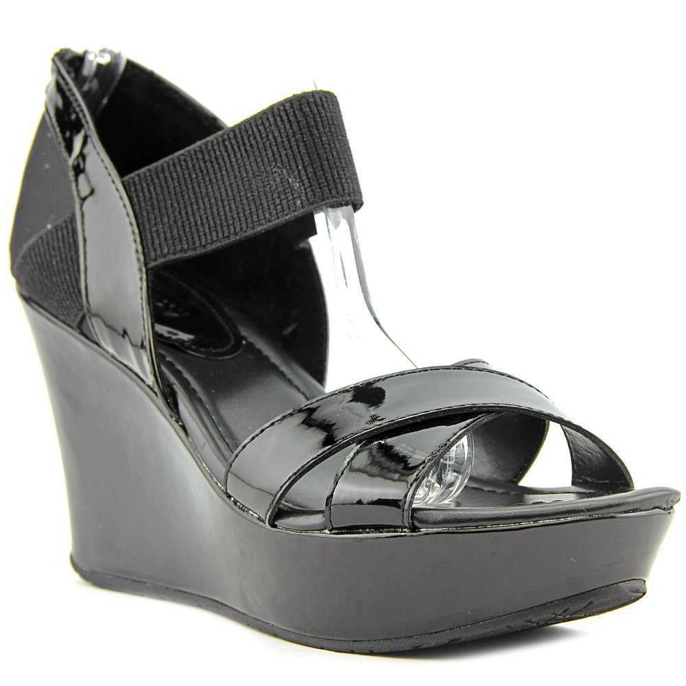 Kenneth Cole Reaction Women's Black Wedge Sandals Size 8.5M