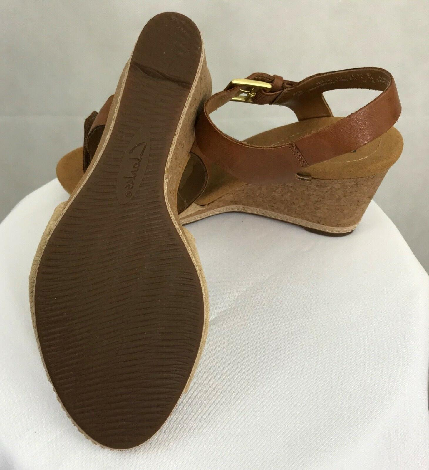 Women's Clarks Cork Wedge Sandals New