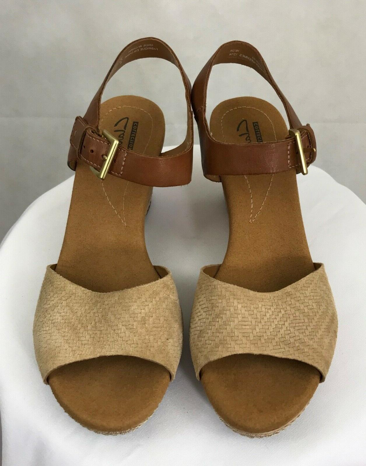 Women's Clarks Collection Cork Wedge Sandals New
