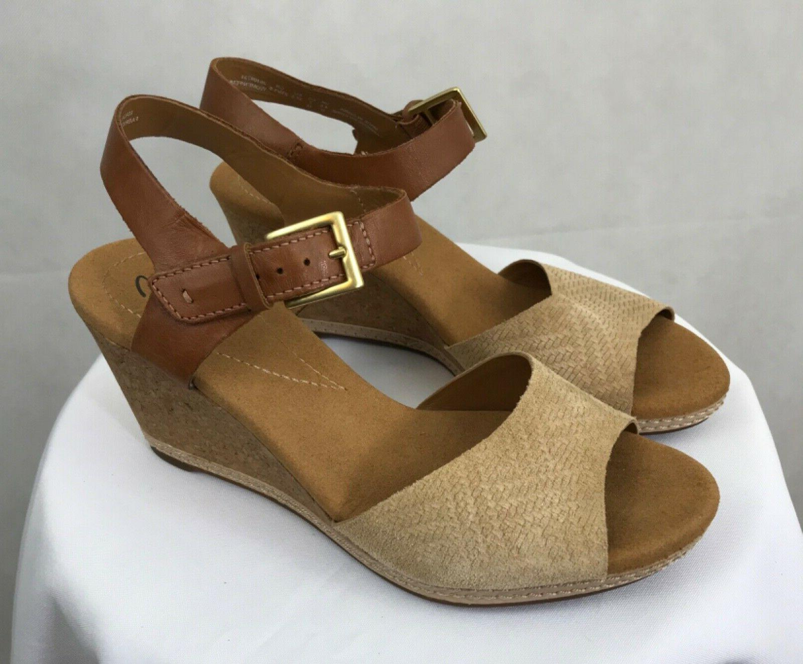 women s collection cork wedge sandals size