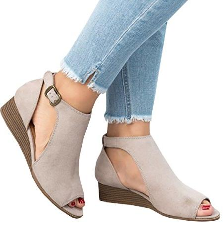 PiePieBuy Women's Out Espadrille Ankle Strap Suede