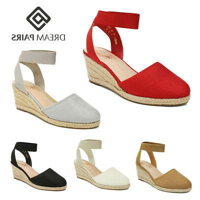 women s elastic ankle strap espadrilles close
